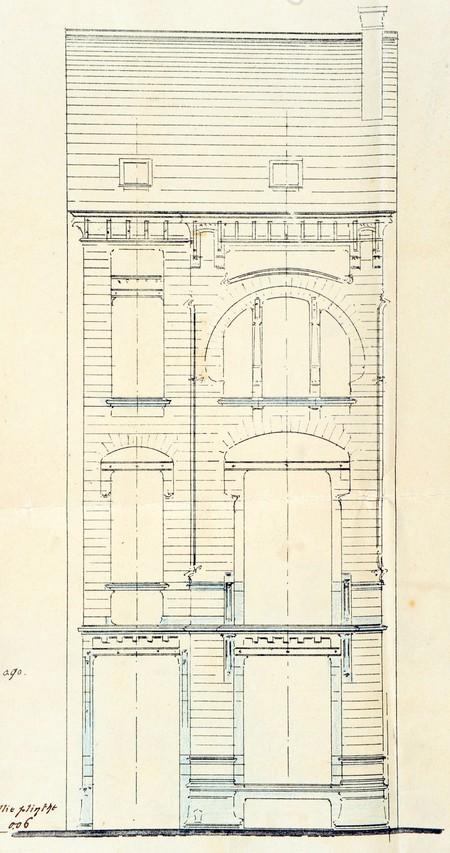 Rue Saint-Quentin 28, Bruxelles Extension Est, projet non réalisé, élévation, AVB/TP 21433 (1899).
