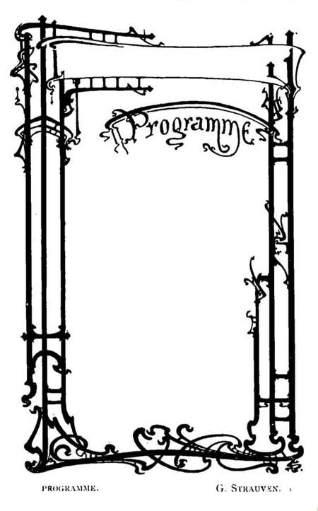Projet de programme (<i>La Gerbe, Revue d'Art décoratif et de Littérature</i>, I<sup>re</sup> année, n<sup>o</sup> 2, mars 1898, p. 43).