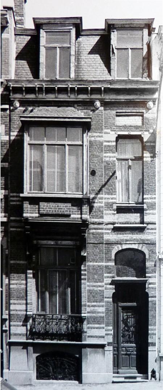 Grande rue au Bois 48, Schaerbeek, façade en 1985, ACS/Urb. 25-48 (1985).
