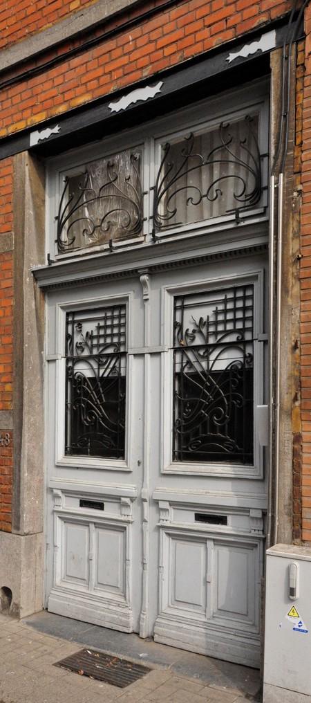Rue Waelhem 48, Schaerbeek, porte (© SPRB-BDU, photo APEB 2013).