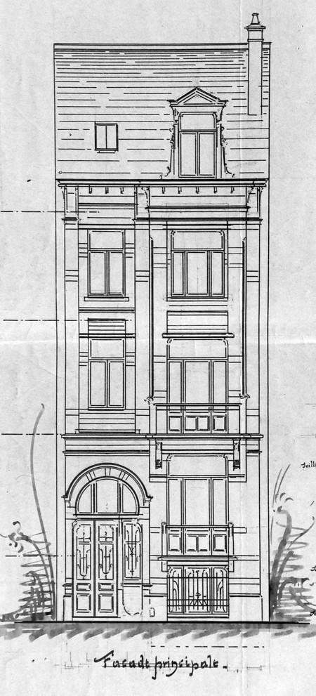 Rue Charles Quint 29, Bruxelles Extension Est, élévation, AVB/TP 8806 (1902).