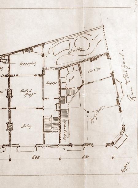 Rue Victor Lefèvre 47 à 61 et rue de Linthout 88, Schaerbeek, avant-projet d'un ensemble de maisons, ACS/Urb. 279-55 (1909).