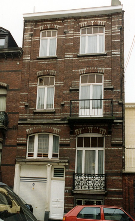 Rue Vanderhoeven 22, Saint-Josse-ten-Noode (© SPRB-BDU, photo 1993-1995).