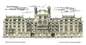 Projet d'un groupe de six maisons à construire à Zurich (<i>La Gerbe, Revue d'Art décoratif et de Littérature</i>, I<sup>re</sup> année, n<sup>o</sup> 3, avril 1898, p. 71).