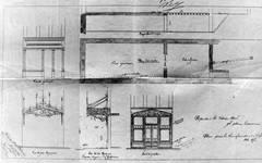 Grand-Place 74, Doornik, ontwerp voor een nieuwe winkelpui, AET/Ville de Tournai/Voirie 17017/Plans 4543 (1904).