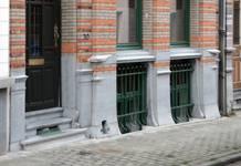 Rue Saint-Quentin 30, Bruxelles Extension Est, soubassement (© APEB, photo 2015).