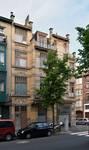 Rue Peter Benoit 2-4 et chaussée de Wavre 517-519, Etterbeek, façade côté chaussée (© APEB, photo 2016).