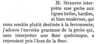 <i>La Gerbe, Revue d'Art décoratif et de Littérature</i>, I<sup>re</sup> année, n<sup>o</sup> 1, 15 février 1898, p. 2.