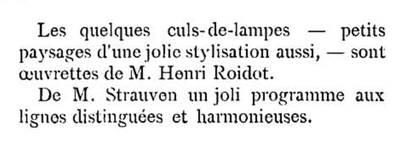 <i>La Gerbe, Revue d'Art décoratif et de Littérature</i>, I<sup>re</sup> année, n<sup>o</sup> 2, mars 1898, p. 42.