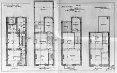 Rue Luther 8, Bruxelles Extension Est, projet non réalisé, plans des quatre niveaux, AVB/TP 15242 (1902).