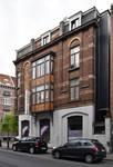 Rue Victor Lefèvre 61 et rue de Linthout 88, Schaerbeek, façade vers la rue de Linthout (© APEB, photo 2016).
