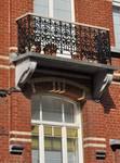 Victor Lefèvrestraat 55, Schaarbeek, balkon (© GOB-BSO, foto APEB 2011).
