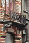 Rue Josaphat 269, Schaerbeek, premier étage, travée droite, balcon (© SPRB-BDU, photo APEB 2002).