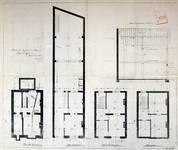 Rue Saint-Quentin 28, Bruxelles Extension Est, projet non réalisé, plans des quatre niveaux, AVB/TP 21433 (1899).