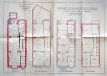Avenue Chazal 25 et 23, Schaerbeek, plans des niveaux, ACS/Urb. 46-25-27 (1914).
