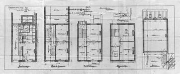Rue Charles Quint 29, Bruxelles Extension Est, plans des cinq niveaux, AVB/TP 8806 (1902).