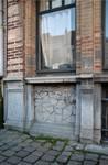 Boulevard Clovis 85-87, Bruxelles Extension Est, partie gauche, rez-de-chaussée, première travée (© APEB, photo 2016).