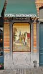 Avenue Louis Bertrand 53-61, Schaerbeek, rez-de-chaussée côté avenue, trumeau entre les deux premières baies, panneau décoratif en carrelage (© APEB, photo 2012).