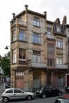 Rue Peter Benoit 2-4 et chaussée de Wavre 517-519, Etterbeek, façade côté rue (© APEB, photo 2016).