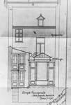 Rue Saint-Martin 73, Tournai, élévation arrière, état projeté, AET/Ville de Tournai/Voirie 17640/Plans 4654 (1905).