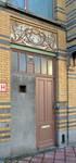Rue Peter Benoit 2-4 et chaussée de Wavre 517-519, Etterbeek, porte côté chaussée (© APEB, photo 2016).