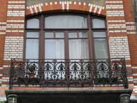 Rue Josaphat 269, Schaerbeek, premier étage, travée droite, porte-fenêtre (© APEB, photo 2013).