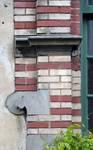 Rue de l'Abdication 4, Bruxelles Extension Est, détail de la travée d'entrée (© APEB, photo 2015).
