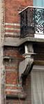 Chaussée de Louvain 229, Saint-Josse-ten-Noode, premier étage, console gauche du balcon (© APEB, photo 2016).