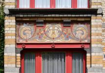 Boulevard Lambermont 150, Schaerbeek, oriel, demi sous-sol (© APEB, photo 2016).