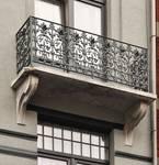 Eugène Smitsstraat 23, Schaarbeek, tweede verdieping, balkon (© APEB, foto 2012).