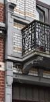 Rue Rasson 43-45, Schaerbeek, premier étage, balcon gauche (© APEB, photo 2016).
