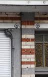 Rue des Coteaux 57-59, Schaerbeek, détail du rez-de-chaussée (© APEB, photo 2016).