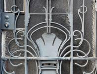 Rue des Aduatiques 9, Etterbeek, détail de la porte (© APEB, photo 2016).