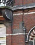 Rue Metsys 28, Schaerbeek, détail du rez-de-chaussée (© APEB, photo 2015).