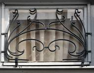 Rue Waelhem 48, Schaerbeek, grille gauche de l'imposte (© SPRB-BDU, photo APEB 2016).