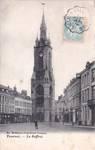 Grand-Place, Tournai, carte postale ancienne, ca 1906 ; marquise du n<sup>o</sup> 74 à droite (www.delcampe.be).