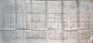 Rue Josaphat 247-253, Schaerbeek, plans des niveaux, ACS/Urb. 154-247-253 (1907).