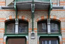 Saint-Quentinstraat 30, Brussel Uitbreiding Oost, consoles van het balkon (© APEB, foto 2015).