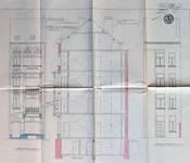 Avenue Chazal 17, Schaerbeek, élévations avant et arrière et coupe longitudinale, ACS/Urb. 46-25-27 (1913).