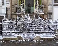 Square Ambiorix 11, Bruxelles Extension Est, grille du jardinet (© APEB, photo 2008).