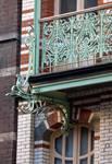 Avenue Paul Dejaer 9, Saint-Gilles, premier étage, balcon (© APEB, photo 2016).