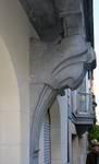 Rue Washington 127, Ixelles, console de l'oriel (© APEB, photo 2016).