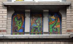 Saint-Quentinstraat 32, Brussel Uitbreiding Oost, eerste verdieping, linkerborstwering (© APEB, foto 2015).
