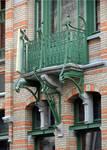 Rue Saint-Quentin 30, Bruxelles Extension Est, balcon (© APEB, photo 2015).