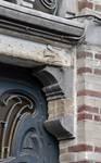 Boulevard Clovis 85-87, Bruxelles Extension Est, partie droite, console du linteau de la porte cochère (© APEB, photo 2016).