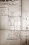 Grande rue au Bois 48, Schaerbeek, projet de logette, élévation avant transformation, ACS/Urb. 25-48 (1948).