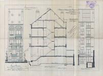 Rue Eugène Smits 23, Schaerbeek, élévations et coupe longitudinale, ACS/Urb. 89-23 (1910).