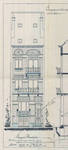 Rue Eugène Smits 23, Schaerbeek, élévation avant, ACS/Urb. 89-23 (1910).