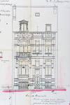 Rue Victor Lefèvre 55, Schaerbeek, élévation, ACS/Urb. 279-55 (1909).