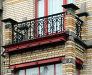 Boulevard Lambermont 150, Schaerbeek, oriel, terrasse (© SPRB-BDU, photo APEB 2013).